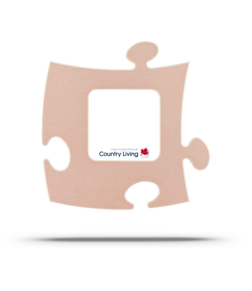 Moldura Puzzle+ 10x10cm areia Country Living