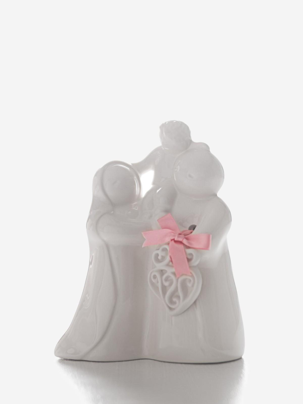 """Figura """"Sagrada Familia"""" branca Rosa Malva"""