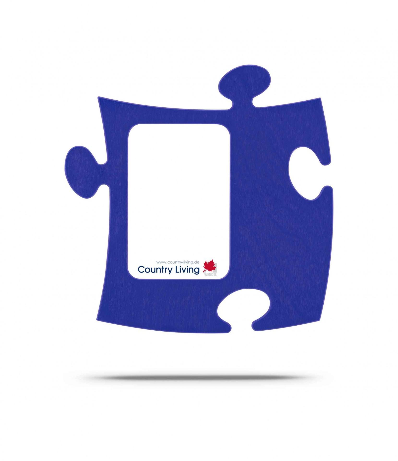 Moldura Puzzle+ 9x13cm azul Country Living