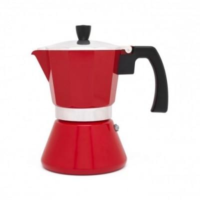 Cafeteira Tivoli vermelha 6chávenas Leopold
