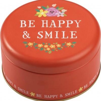 Conjunto de 2 latas Be Happy & Smile por RBV Birkmann