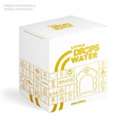 Little Drops of Water Oratório pérola e dourado, com pomba Espírito Santo