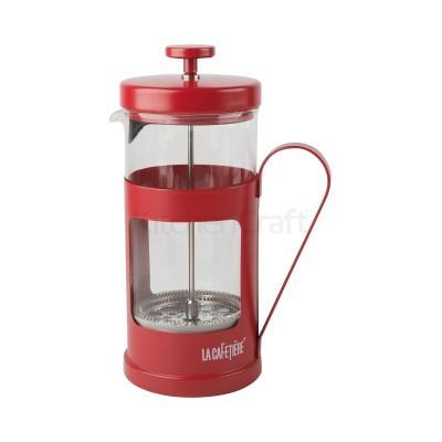 Cafeteira c/embolo 8chávenas Monaco vermelha