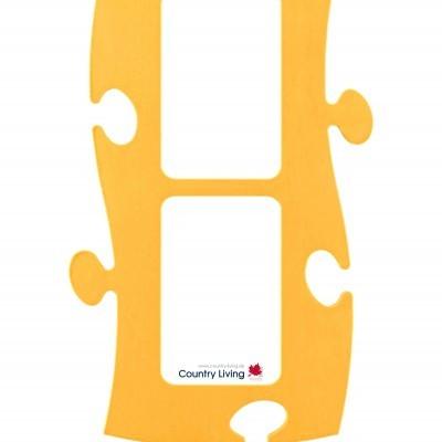 Country Living Moldura Puzzle+ (2x) 10x15cm amarela