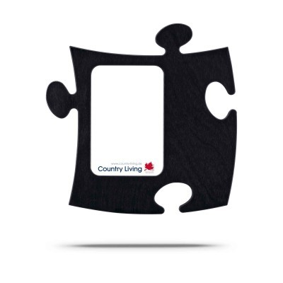 Moldura Puzzle+ 9x13cm preta Country Living