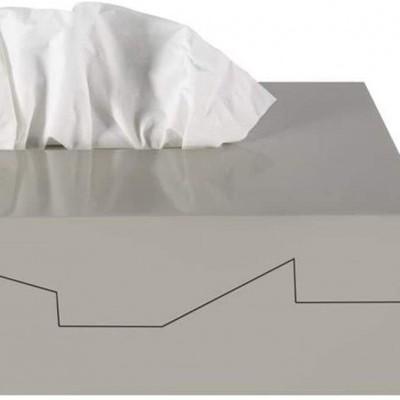 Caixa para lenços Silhouette taupe Spirella