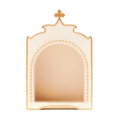 Oratório pérola e dourado, com cruz Little Drops of Water