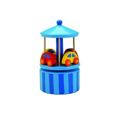 Carrossel Carros azul Music Box
