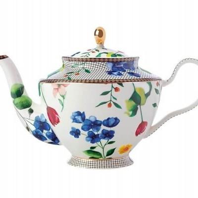 Bule de chá Contessa com infusor 1L branco