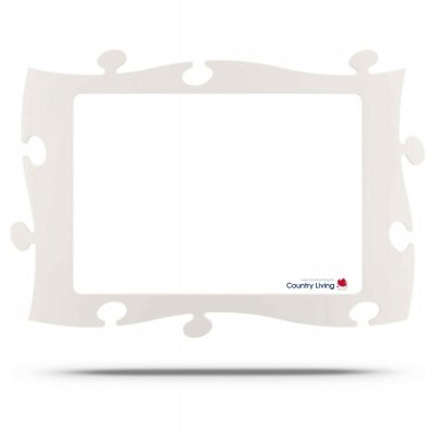 Moldura Puzzle+ 28x40cm branca Country Living
