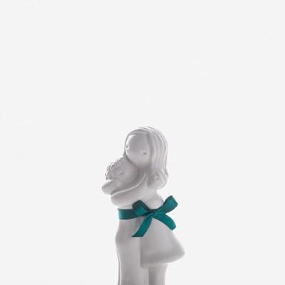 """Figura """"Abraço  Mãe com Menino"""" Rosa Malva"""