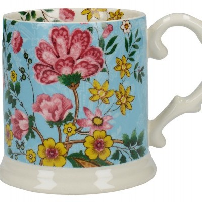Caneca Teal Eastern Flora Katie Alice