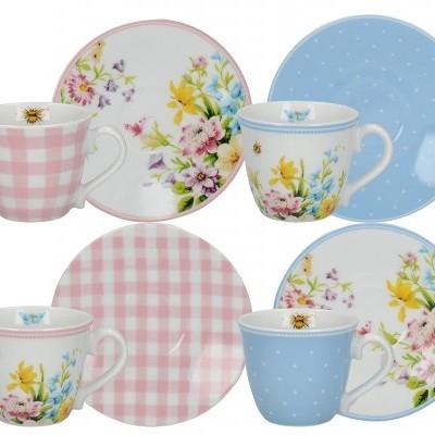 Set 4 chávenas café English Garden Katie Alice