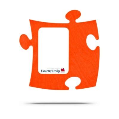 Country Living Moldura Puzzle+ 9x13cm laranja