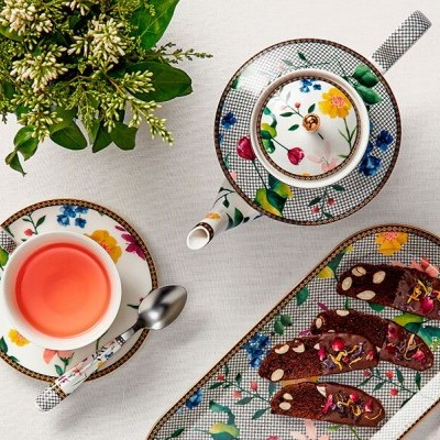 Teas e C's Contessa chávena e pires 200ML branca