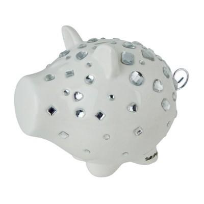 Porquinho mealheiro Bling branco S&P