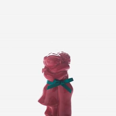 """Figura """"Abraço Casal2"""" coral Rosa Malva"""