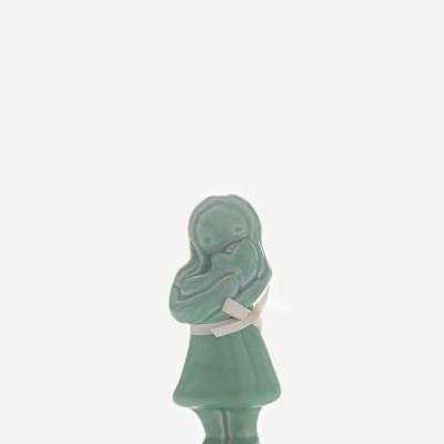 """Figura """"Abraço Mamã"""" esmeralda Rosa Malva"""