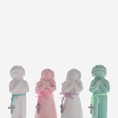 Figura Comunhão menina branca Rosa Malva