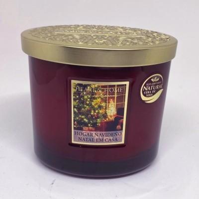 Heart & Home Natal em Casa Vela perfumada frasco eliptico 2 pavios