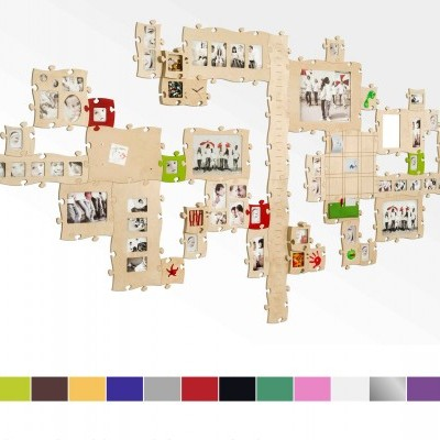 Moldura Puzzle+ 5 fotos rosa Country Living