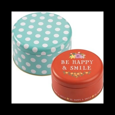 Conjunto de 2 latas Be Happy & Smile por RBV Birkmann