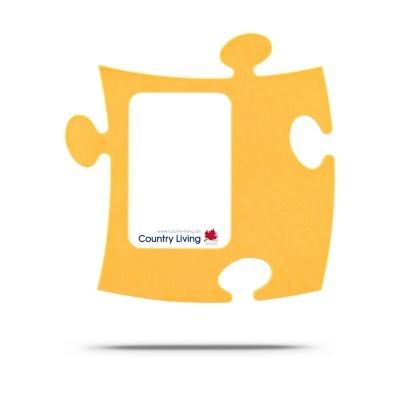 Country Living Moldura Puzzle+ 9x13cm amarela