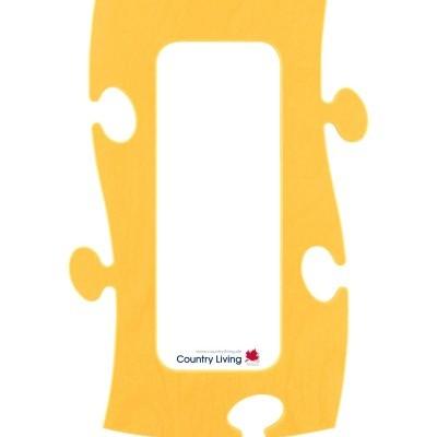 Country Living Moldura Puzzle+ 10x25cm amarela