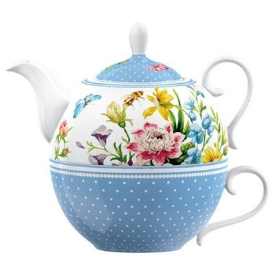Katie Alice English Garden - Bule individual com chávena chá  CU3671