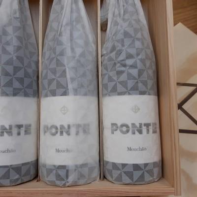 Ponte da Herdade do Mouchão  - pack caixa de madeira com 3 garrafas