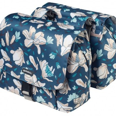 Basil Magnolia Double Bag - 25L - Teal Blue