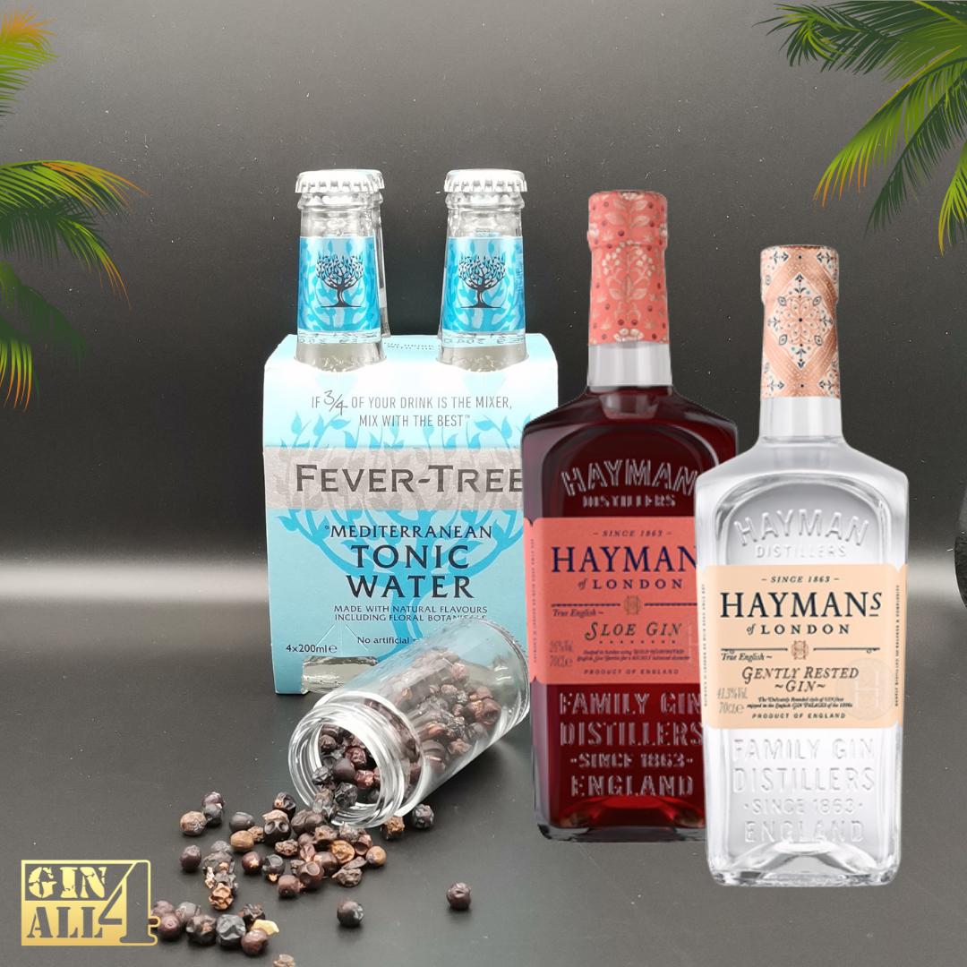 Gin Hayman`s a dobrar (c/Oferta de 4 Águas Tónicas Fever-Tree + Zimbro)