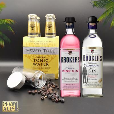 Gin Broker`s Premium + Gin Broker`s Pink (c/Oferta Água Tónica Fever-Tree + Zimbro)