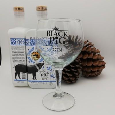 Gin Black Pig Costa Alentejana c/Copo (2 Garrafas)
