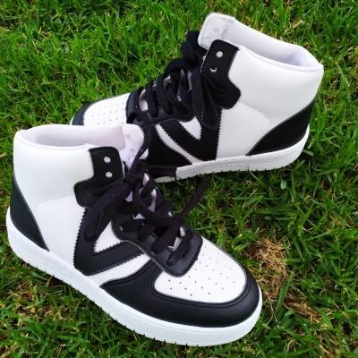 Ténis bota Victoria preto e branco