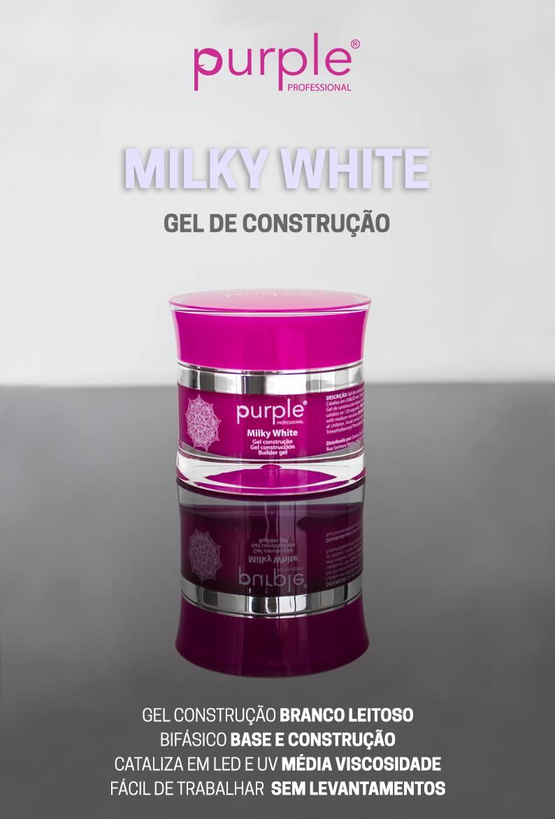 Purple gel de construção Milky White