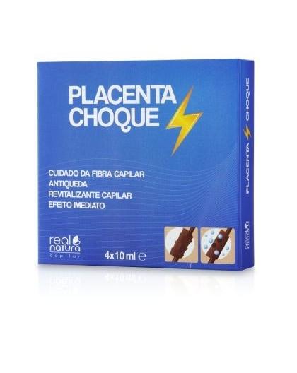 Real Natura ampolas placenta-choque 4 x 10ml