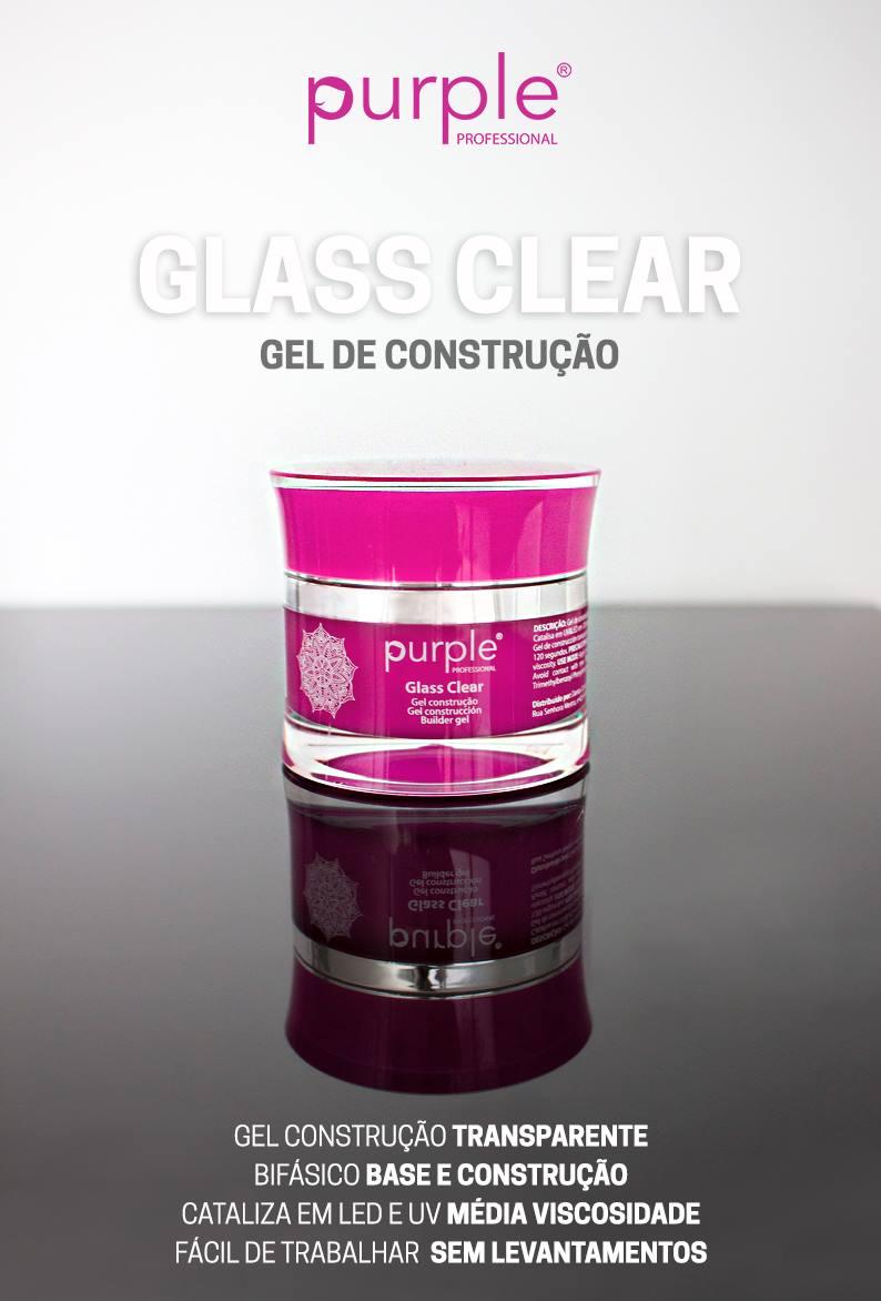 Purple gel de construção Glass Clear