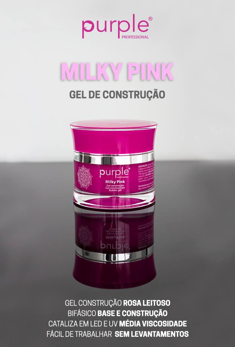 Purple gel de construção Milky Pink