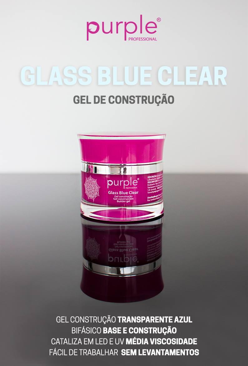 Purple gel de construção Glass Blue Clear
