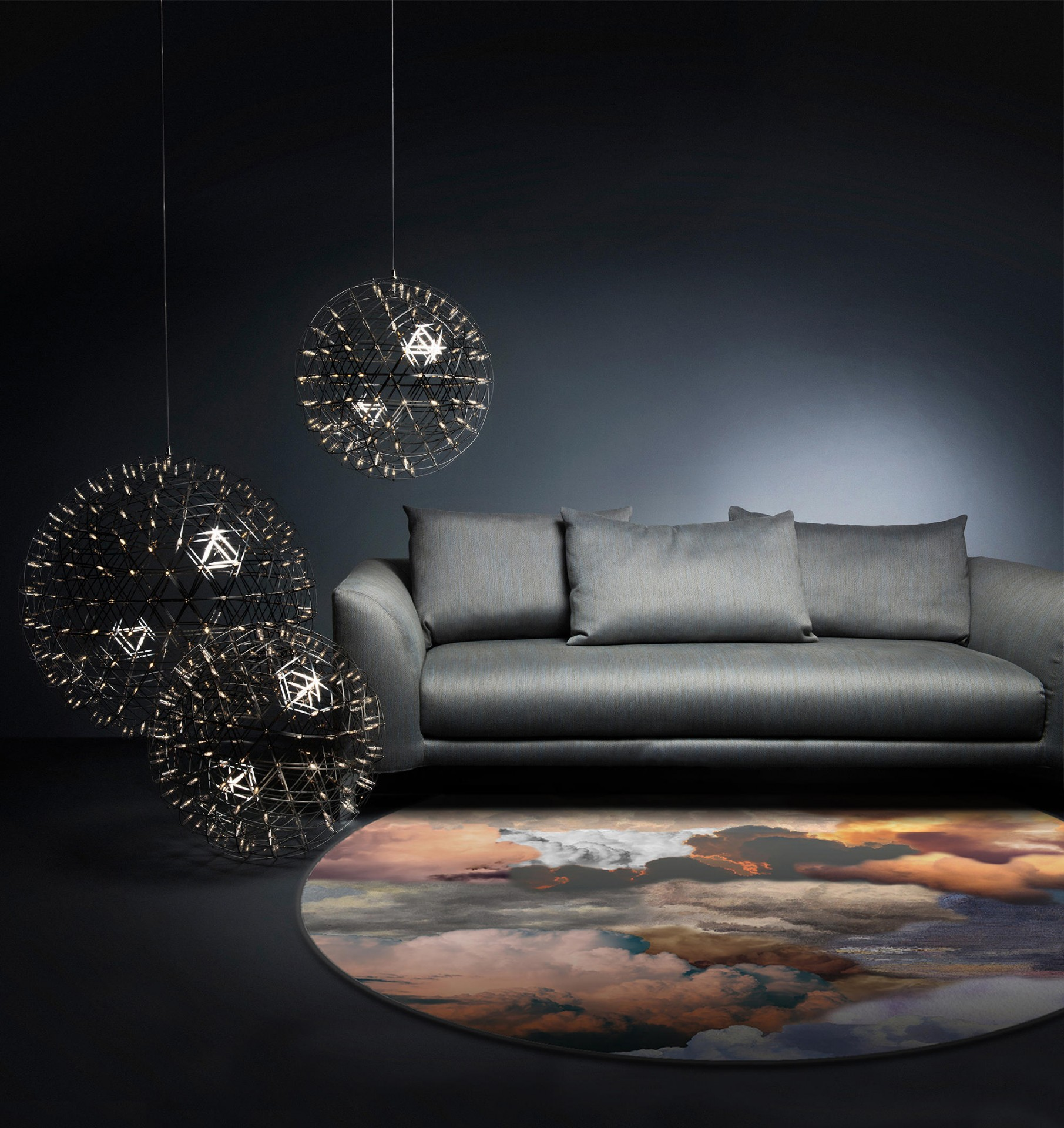 Walking on Clouds Dusk -Jane Richards ,2019  Moooi Carpets