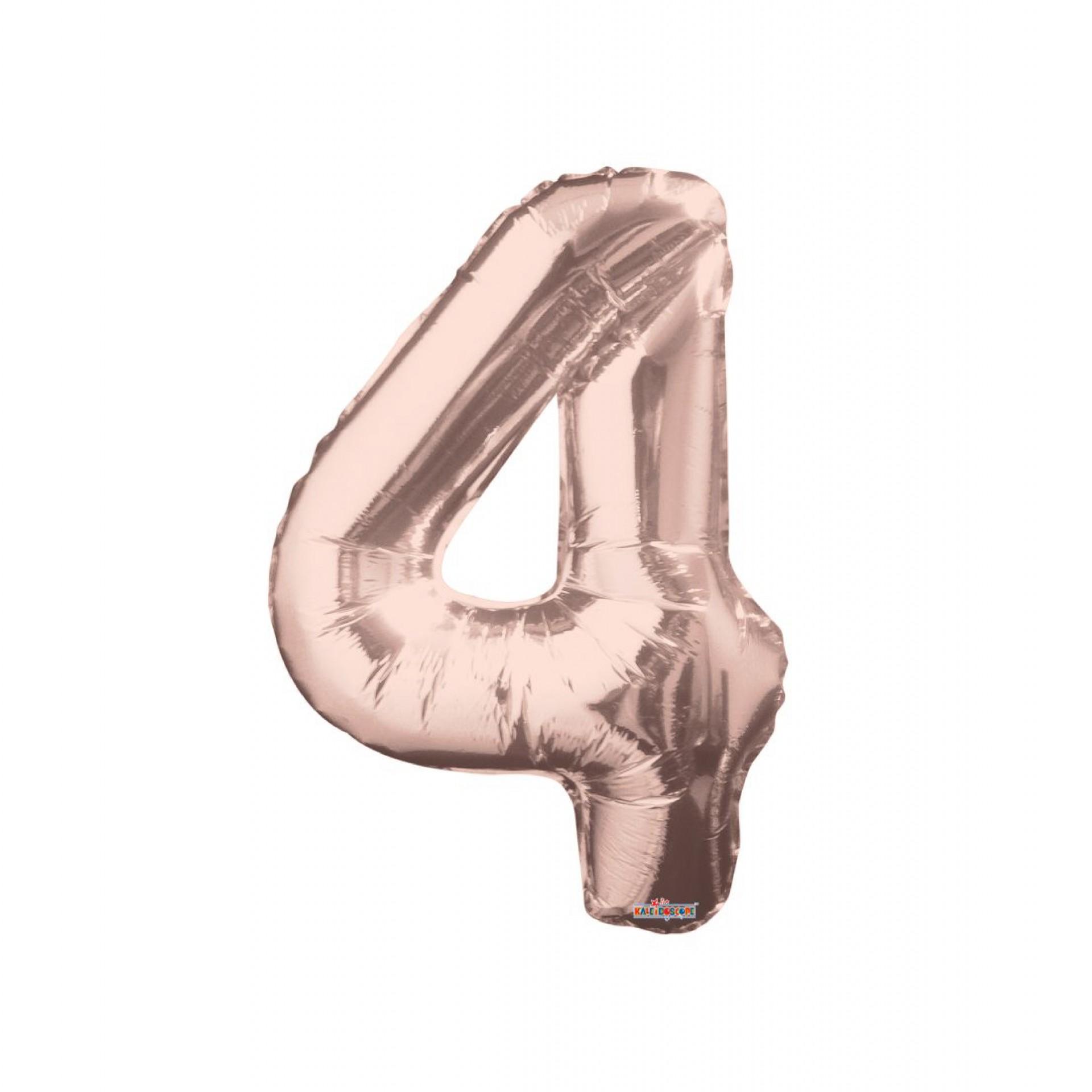 """Balão foil 34"""" Número 4 - Kaleidoscope"""
