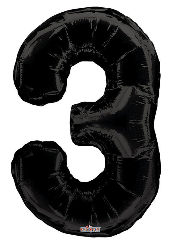 """Balão foil 34"""" Número 3- Kaleidoscope"""