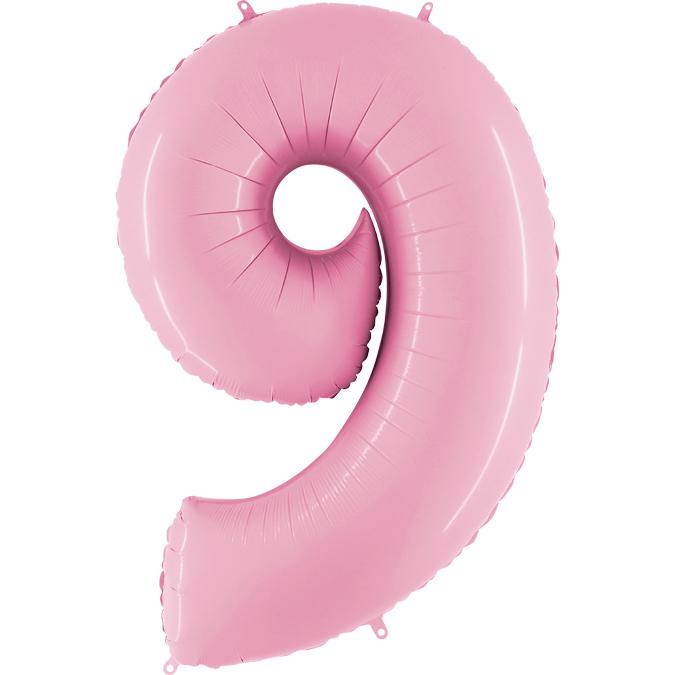 """Balão foil 40"""" número 9 - grabo"""