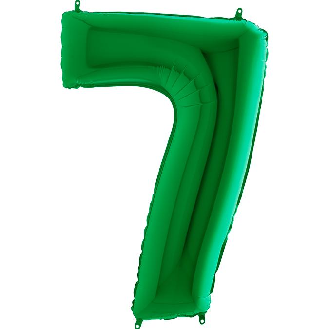 """Balão foil 40"""" número 7 - grabo"""