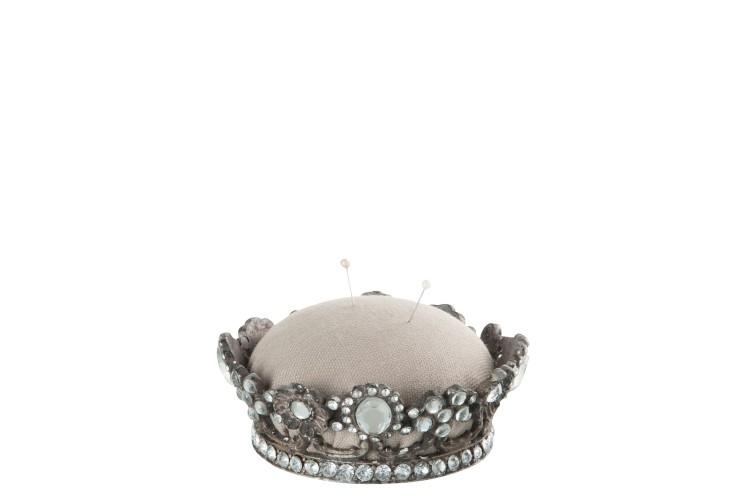 Coroa prata com brilhantes