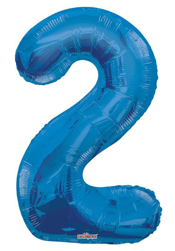 """Balão foil 34"""" Número 2- Kaleidoscope"""