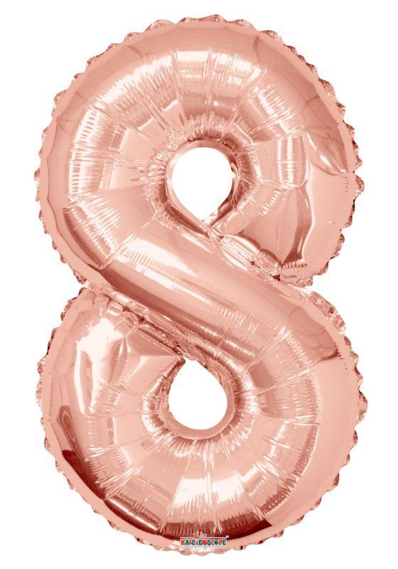 """Balão foil 34"""" Número 8 - Kaleidoscope"""