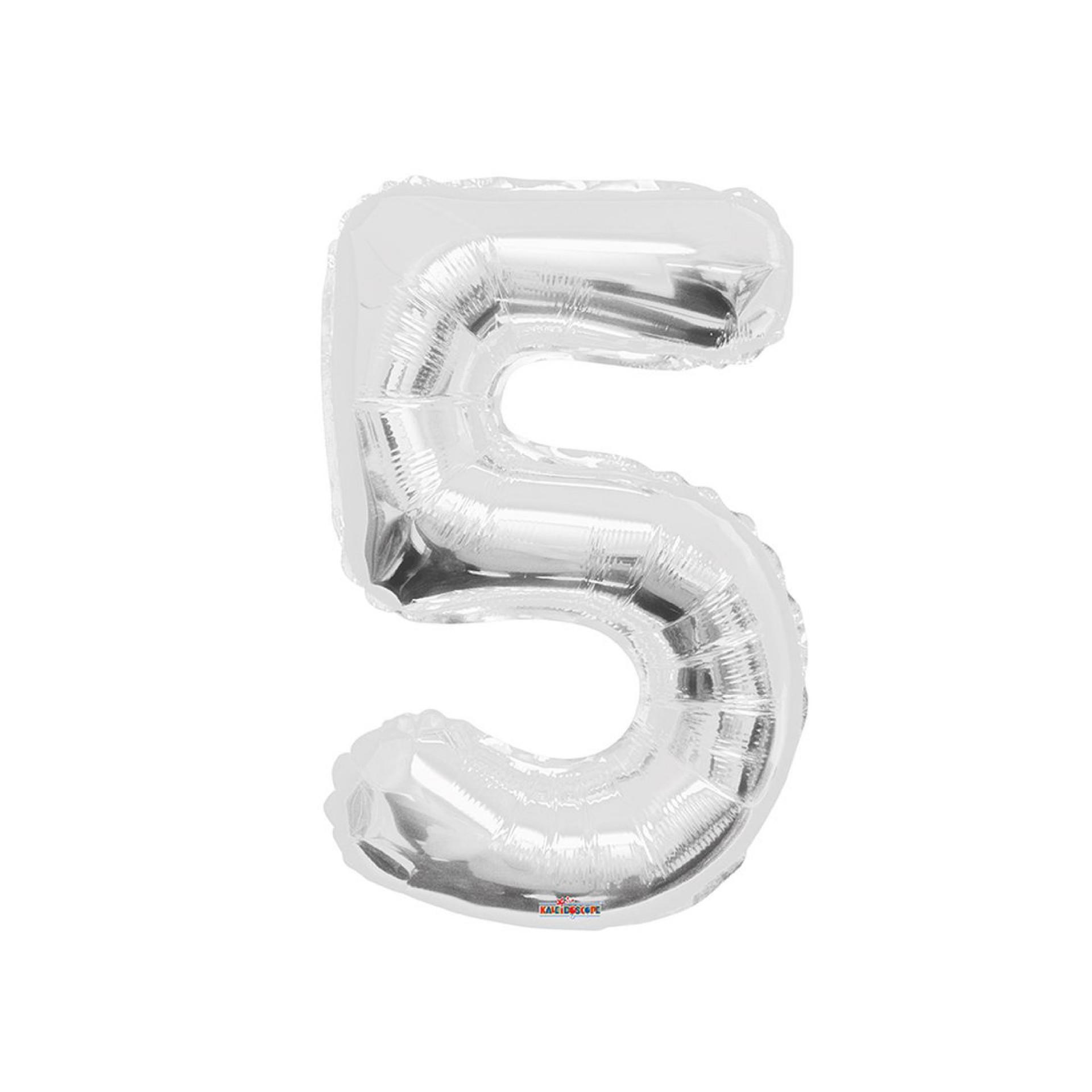 """Balão foil 34"""" Número 5 - Kaleidoscope"""