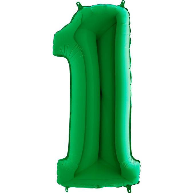 """Balão foil 40"""" número 1 - grabo"""